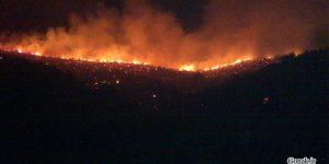 کوه های سپیدار در حال سوختن